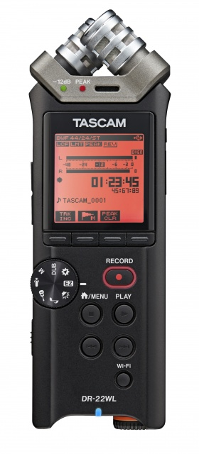 Tascam dr-22wl portable audio recorder