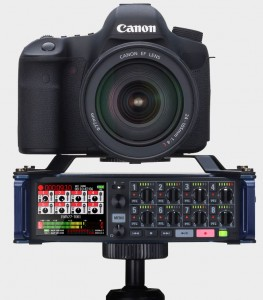 oom F8 multitrack in action with camera