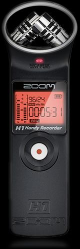 Zoom h1 budget portable audio recorder