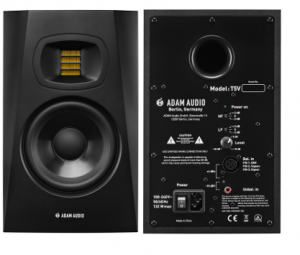 dam Audio T5v active studiomonitor front & back