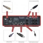 Audiointeface met bijbehorende connectoren